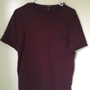 Forever21 maroon t-shirt.